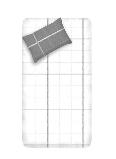 EnLora Home Enlora %100 Doğal Pamuk Çarşaf+Yastık Seti Tek Kişilik Maya  Beyaz